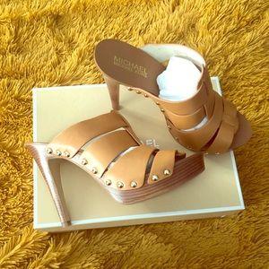 Michael Kors Mule Heels | Color: Caramel | Sz: 7.5